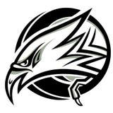老鹰顶头向量 免版税库存图片