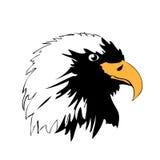 老鹰顶头剪影向量 免版税库存照片