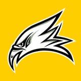 老鹰顶头纹身花刺设计-传染媒介例证 免版税库存图片