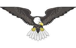 老鹰飞行例证 向量例证