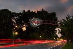老鹰,对城市的爱达荷门户 库存照片