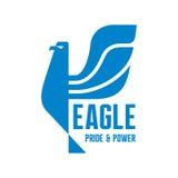 老鹰-自豪感&电源的商标标志 图库摄影