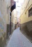 老麦地那街道在摩洛哥城市 图库摄影