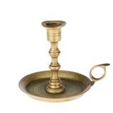 老黄铜烛台。 图库摄影