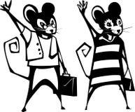 老鼠企业夫妇 库存照片