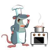 老鼠厨师-厨师holdson 库存图片