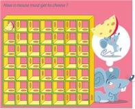 老鼠和乳酪迷宫 免版税库存照片