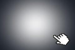 老鼠在角落的手游标 免版税库存照片