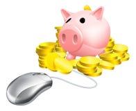 老鼠存钱罐概念 库存照片