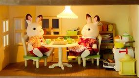 老鼠家庭早餐 免版税库存图片