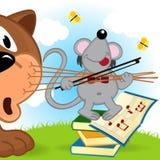 老鼠小提琴手 免版税库存照片