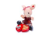 老鼠的小雕象 库存照片