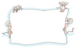 老鼠的框架 免版税图库摄影