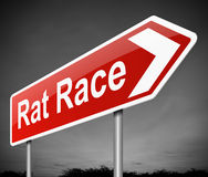 老鼠赛跑概念。 免版税库存照片