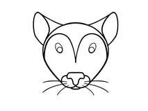 老鼠,老鼠头,啮齿目动物 汇率 皇族释放例证