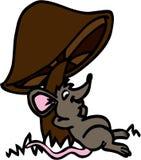 老鼠&蘑菇 库存图片