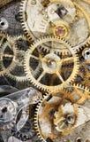 从老齿轮的抽象背景 库存图片