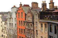 老,历史建筑学在爱丁堡,苏格兰,英国 库存照片