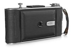 老,古色古香的黑袖珍照相机 库存照片