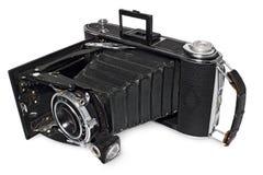 老,古色古香,黑,袖珍照相机,照相机式样Agfa比利纪录 免版税库存图片