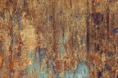 老,年迈的,生锈,被抓的,五颜六色的纹理/背景 免版税库存照片