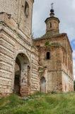 老,被毁坏的领港教会 俄罗斯, Kotlas 免版税库存图片