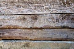 老,难看的东西木头盘区 免版税图库摄影