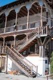 老19世纪旅馆台阶 库存照片