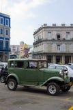 老20世纪20年代汽车在哈瓦那古巴 免版税库存照片