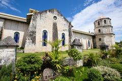 老巴洛克式的教会在菲律宾 免版税库存照片