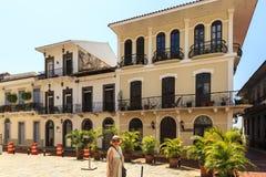 老经典大厦在老巴拿马城 库存图片