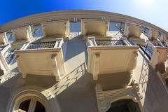 老经典大厦在老巴拿马城 免版税库存照片