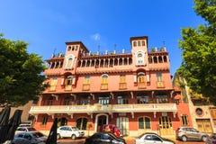 老经典大厦在老巴拿马城 免版税库存图片
