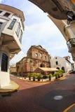 老经典大厦在老巴拿马城 库存照片