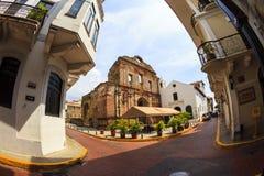 老经典大厦在老巴拿马城 免版税图库摄影
