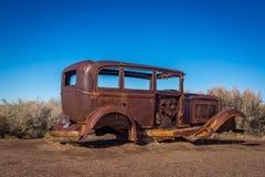 老经典汽车和卡车 免版税库存图片