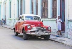 老经典汽车在古巴 免版税图库摄影