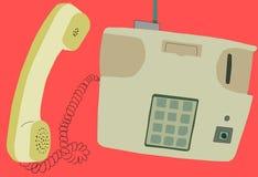老经典电话老葡萄酒电话和象仿古 免版税库存图片