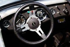 老经典白色汽车入口细节 免版税图库摄影