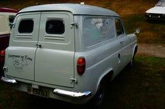 老经典白色汽车入口细节 库存照片