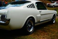 老经典白色汽车入口细节 图库摄影
