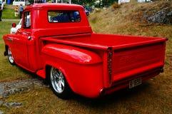老经典红色汽车入口细节 免版税图库摄影