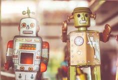 老经典罐子玩具机器人 库存图片