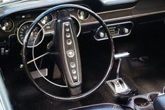 老经典黑汽车入口细节 免版税库存照片