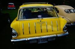 老经典黄色汽车入口细节 库存图片