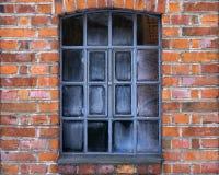 老结冰的窗口 图库摄影