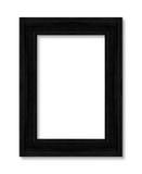 老黑在白色的框架装饰被雕刻的木头 库存图片
