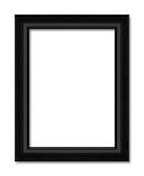老黑在白色的框架装饰被雕刻的木头 免版税库存图片