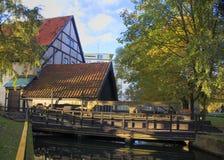 老水坝在波兰, Slupsk 库存照片