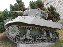 老轻型坦克 免版税库存图片